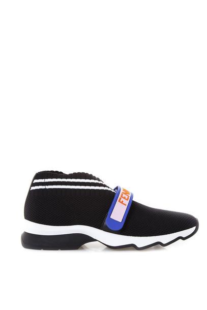 Fendi Fendi Love Sneakers In Black Yarn