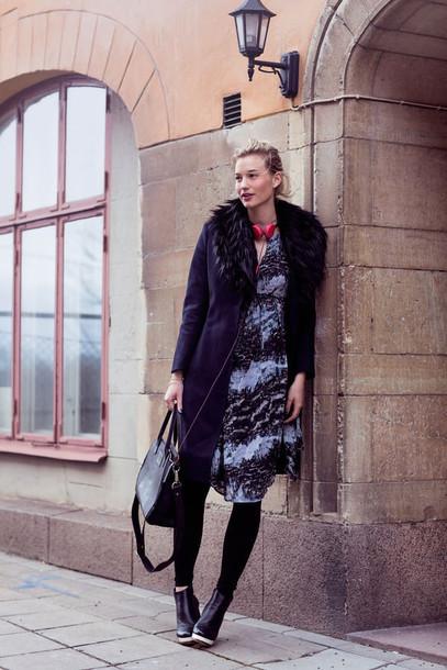 zanita blogger dress coat shoes bag