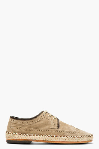 shoes derbies menswear casual shoes tan suede brogued ripley