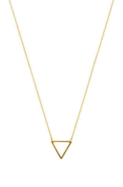 Wanderlust + Co Frame Triangle Necklace in gold / metallic