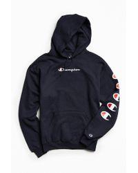 f473fda9f2c Champion | Blue Repeat Eco Hoodie Sweatshirt for Men | Lyst