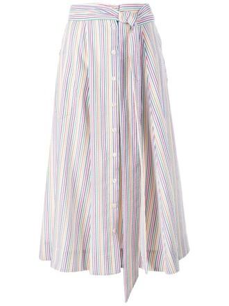 skirt striped skirt midi