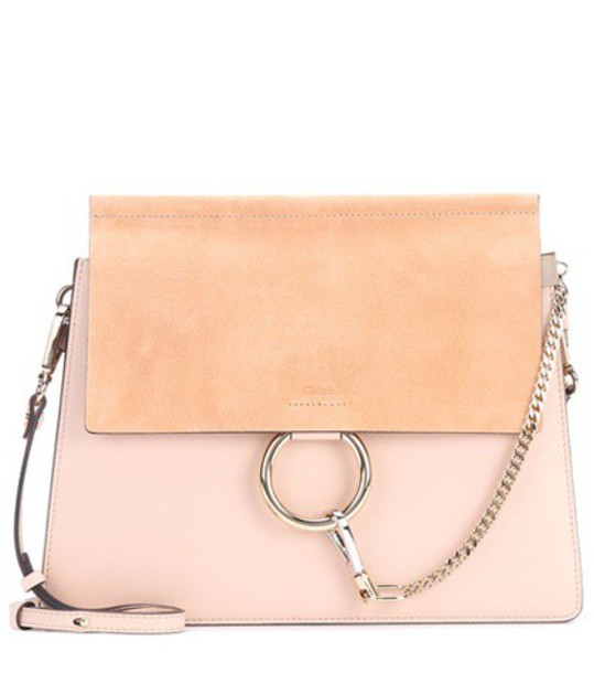 Chloe bag shoulder bag leather suede pink