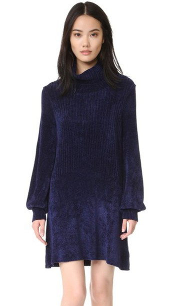 Free People sweater new moon navy