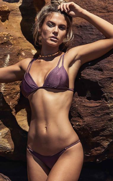 SHOWPO Kali Bikini Set in plum metallic
