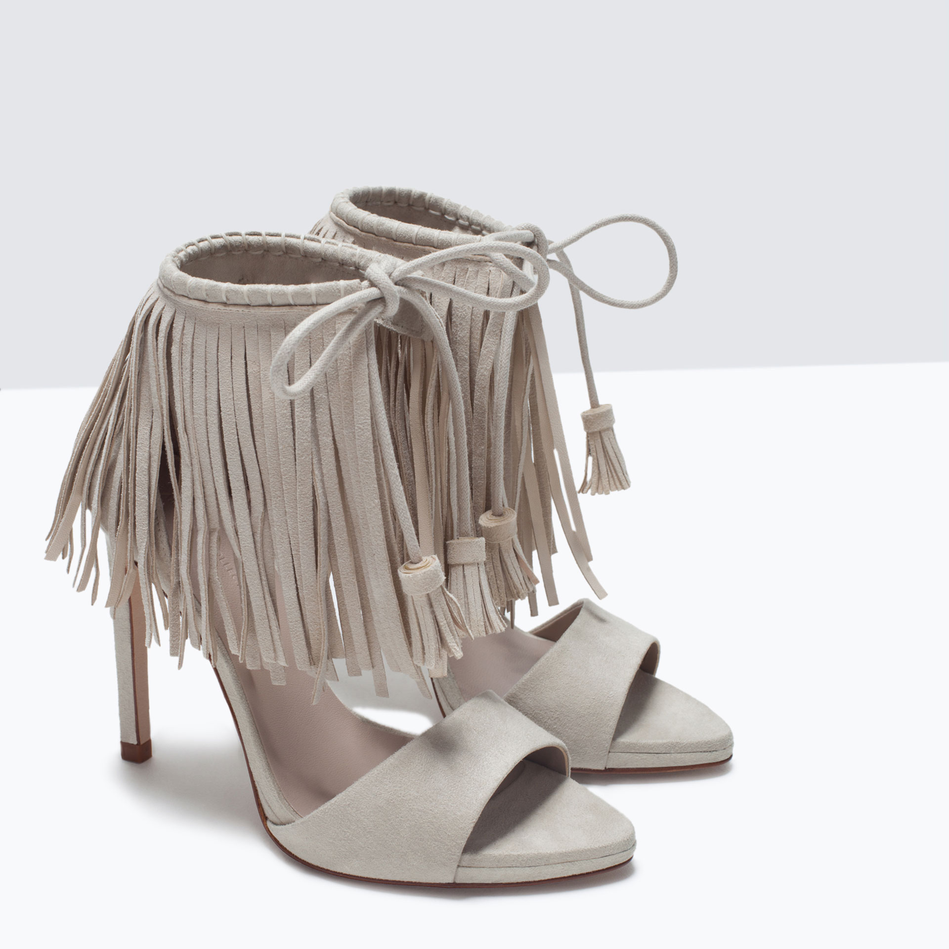 70197e8eb66 FRINGED HIGH HEEL SANDALS - View all - Shoes - WOMAN - SALE ...