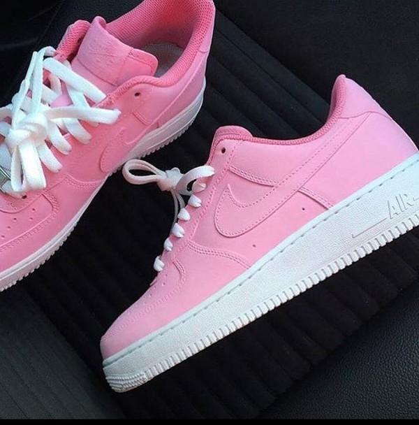 Nike Air Force 1 Lows Soft Pink Custom Men Amp Kids Red