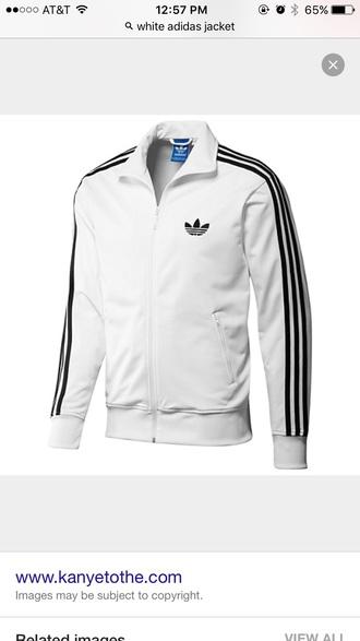 jacket adidas white