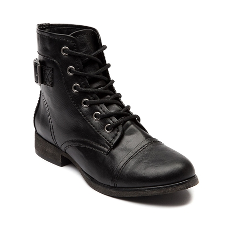 Womens madden girl soldier boot, black, at journeys shoes