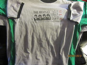 THE BEATLES August 21, 1964 Ticket Tacoma Washington Ringer T Shirt Small | eBay