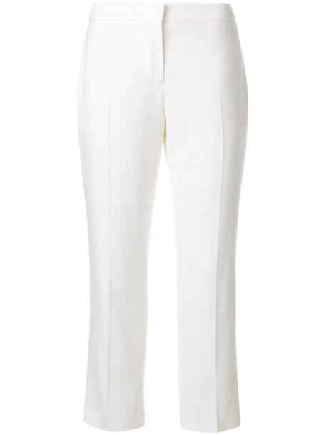 Alexander Mcqueen cropped women white wool pants