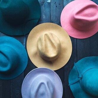 hat cool cute felt hat fall colors