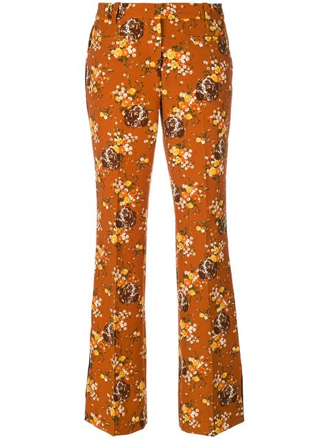 Coach Floral Print Flared Trousers - Farfetch
