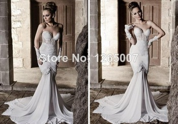 Aliexpress.com : buy 2014 new arrival round neck lace top long sleeves open back mermaid evening dresses new fashion from reliable lace closer suppliers on sfbridal
