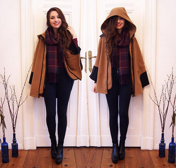 coat Choies cape spring asos sheinside romwe camel scarf
