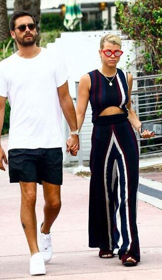 jumpsuit pants sunglasses sofia richie streetstyle top knitwear