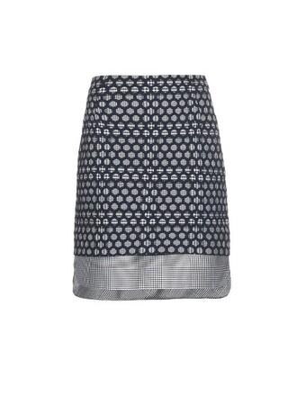 skirt mini skirt mini layered blue