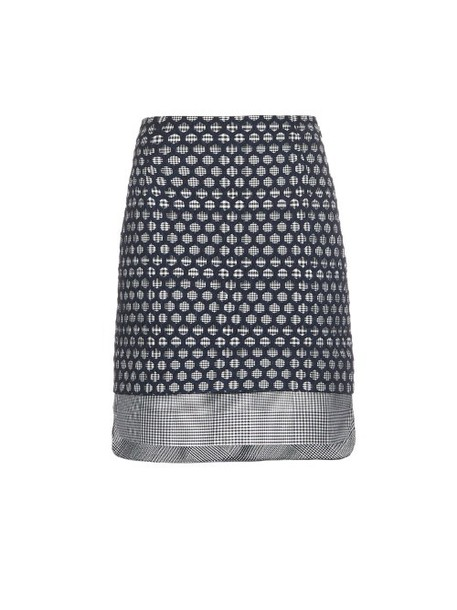 Antonio Berardi skirt mini skirt mini layered blue