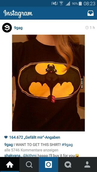 t-shirt batman how to train your dragon
