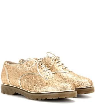 glitter embellished shoes gold
