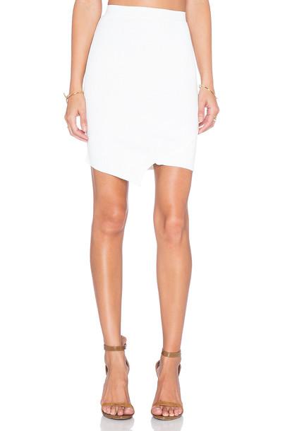 Central Park West skirt asymmetrical skirt asymmetrical white
