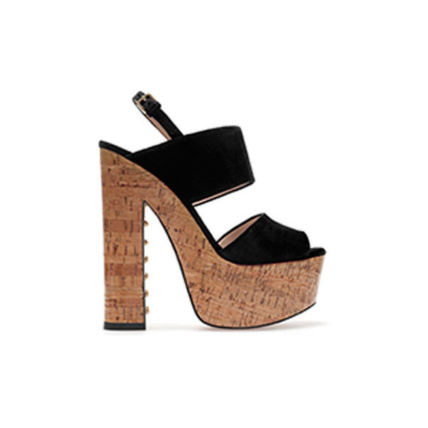 Zara Cork Sandal - Polyvore