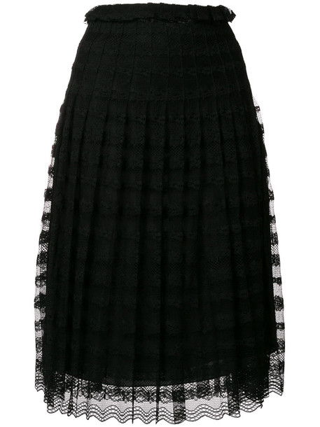 Philosophy di Lorenzo Serafini skirt lace skirt pleated women lace black
