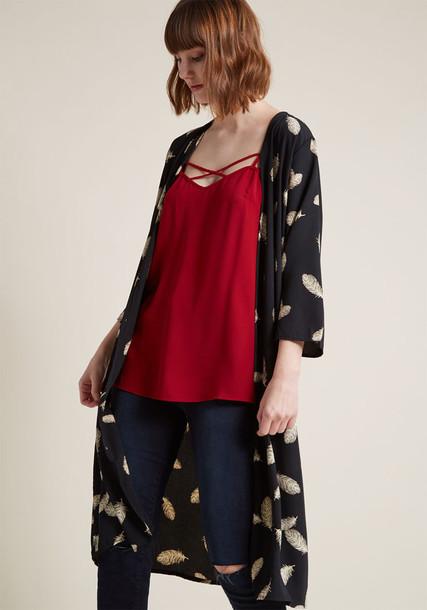 Modcloth kimono black top