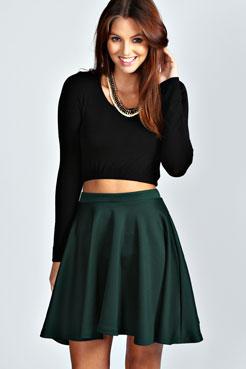 Jess Skater Skirt at boohoo.com