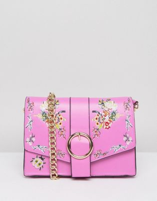 ASOS Floral Embroidered Shoulder Bag at asos.com