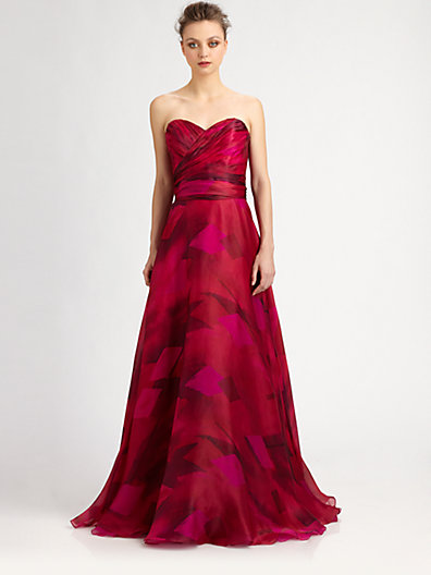 Theia - Strapless Silk Organza Ball Gown - Saks.com