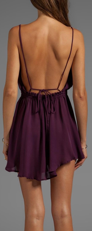 dress open back purple dress purple low back backless summer sexy royal purple burgundy
