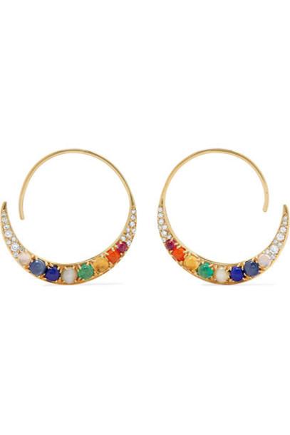 Noor Fares earrings hoop earrings gold jewels