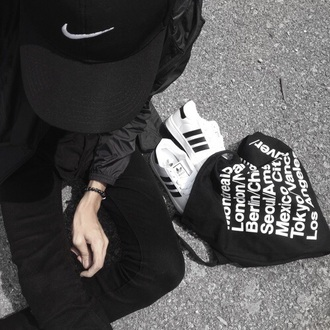 bag cap city cities pale black and white pants nike nike cap black nike cap black bag jute blackfashion. black trousers adidas superstars adidas adidas shoes american apparel