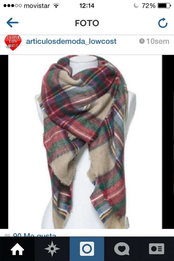 scarf zara green red