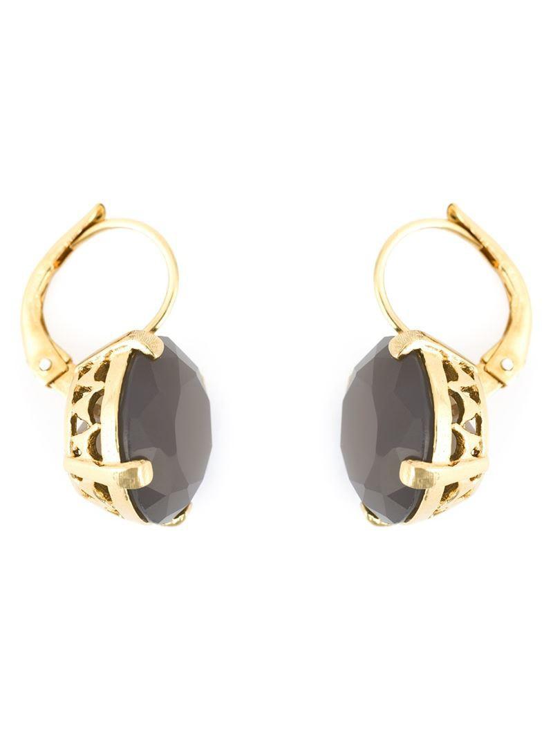 earrings grey purple pink jewels