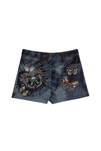 shorts denim shorts denim embroidered black