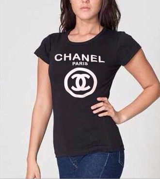 t-shirt chanel chanel t-shirt chanel drip tshirt chanel inspired chanel top