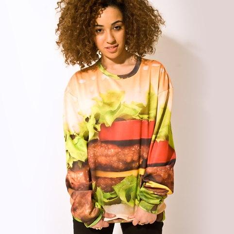 100% not horseburger sweater