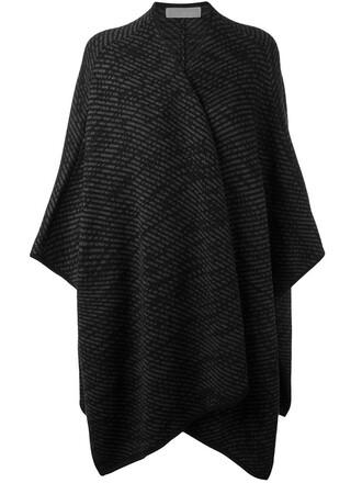poncho style women cotton black top