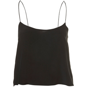 Silk Crop Strappy Cami By Boutique - Polyvore