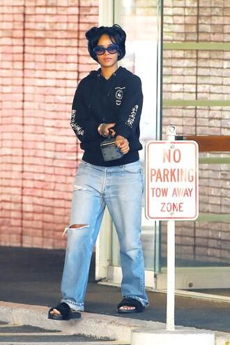 sweater hoodie sweatshirt rihanna boyfriend jeans jeans jacket