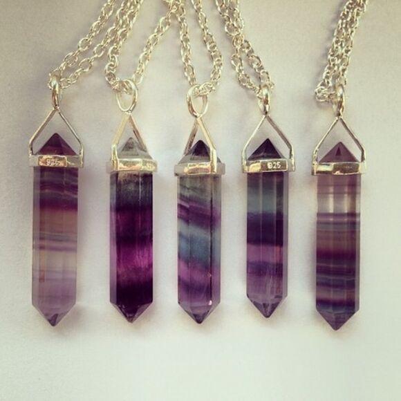 jewels stone purple grunge jewelry mystery cristal necklace stone necklaces heksagonal