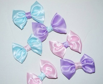 hair accessory pastel blue bows pastel purple hair bow pink hairstyles head jewels hair clip hair band pastel pink cute
