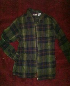 Womens medium faded glory plaid shirt jacket made in bangladesh