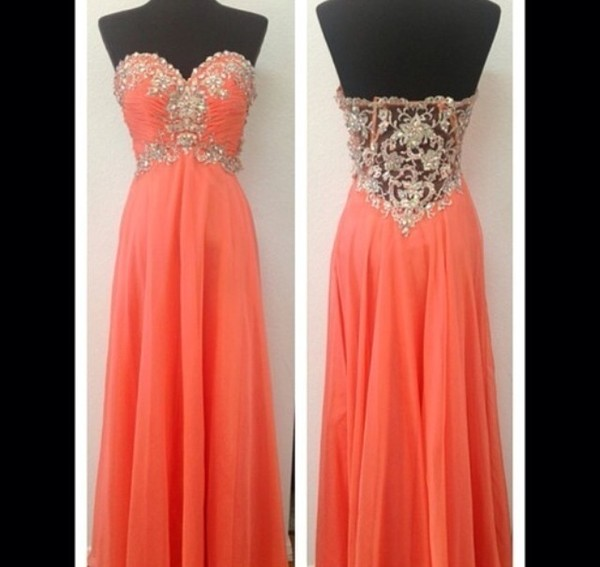 dress orange dress rimes tone lace