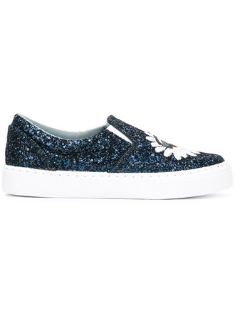 women daisy sneakers cotton blue shoes