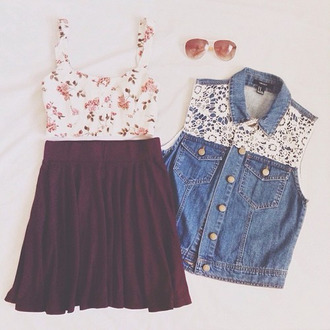 dress top jacket lace denim denim jacket sleeveless jacket buttons