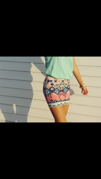 mini black skirt aztec blue skirt pink skirt beige aztec skirt