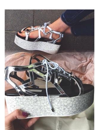shoes sandals platform shoes flatform